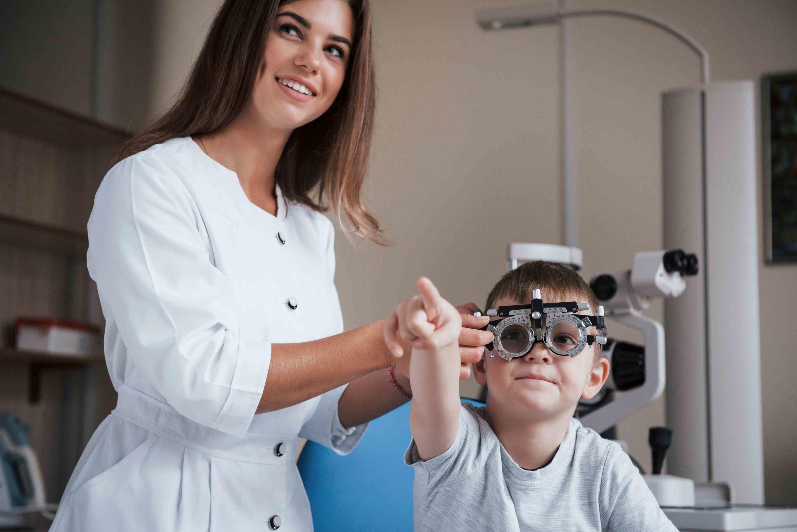 בדיקת עיניים ילדים